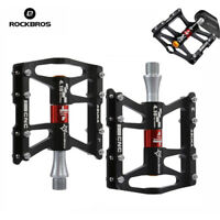 RockBros Road MTB Mountain Bike Cycling 4 Sealed Bearing  Aluminum Pedals Black