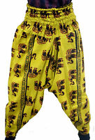 INDIAN COTTON ALIBABA BAGGY GENIE HAREM PANTS UNISEX TROUSERS BOHO HIPPIE YOGA