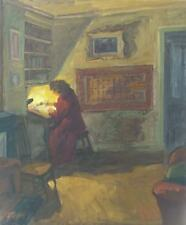 Louis PEYRÉ (1923-2012) HsT / Intérieur 1975 / Jeune Peinture Nle Ecole de Paris