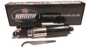 """HAGON BSA A7 A10 B31 B32 B33 DBD32 DBD34 GOLD STAR REAR SHOCKS SHROUDED 12.9"""""""