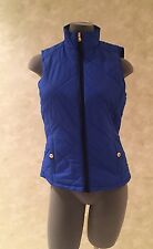NWT Lauren Ralph Lauren Quilted Blue Black Trimmed Puffer Vest Size Extra Small