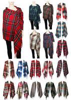Women Men Blanket Oversized Tartan Long Cashmere Feel Scarf Wrap Shawl Pashmina