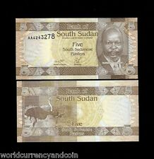 South SUDAN 5 or 10 or 25 PIASTERS P1 or P2 or P3 2011 x 1 UN ISSUED UNC ANIMAL