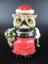 Black Forest Owl Female, Souvenir Germany, Poly Figurine Black Forest, New