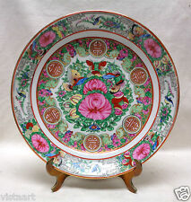 """Gorgeous Oriental Vintage Plate w. Hand Painted Intricate Floral Designs 12"""" Dia"""