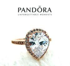 Authentic  PANDORA Rose™ Gold Sparkling Teardrop Big Halo Ring 186251 size 10/60