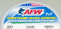 AMERICAN FISHING WIRE - MICRO SUPREME 7X7 MULTI SURFSTRAND LEADER STAINLESS