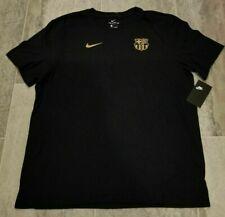 Nike FC Barcelona Messi Soccer Cotton Black T-shirt Men's Size Medium. A5