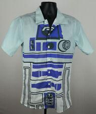 Star Wars R2D2 Shirt Men's Small Blue Button Up Adult Shirt New ST167