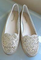 Boden Johnnie B Ladies Girls Shoes 4 7 Gold Leather Ballet Pumps Glitter BNWOB