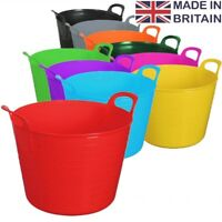 45L Litre Flexi Tub Heavy Duty Home Garden Flexible Storage Colour Bucket Basket