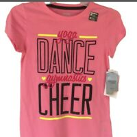 Danskin Shirt Girls 7/8 Pink Dance Cheer Gymnastics Dry More