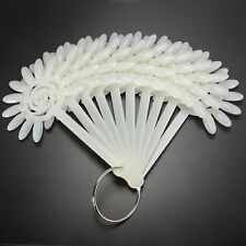 120 Tips Nail Polish Display Practice Fan Board Sticks Wheel