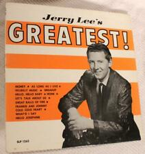 JERRY LEE LEWIS SUN 1265 JERRY LEE'S GREATEST Cover Only NO RECORD