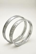 pair wheel rims chrome steel ducati scrambler 250 350 450 brand italcerchio