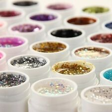 36 Pots Glitter BTimmer Spangles Nail Art UV Gel for Acrylic Nails