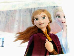 Frozen Tablecloth 52x70 Anna Elsa White Blue Disney Party Decor NEW Frozen II