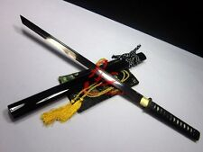 battle ready 1095 steel clay temperd  jp ninja sword tungsten adsorb sharpened