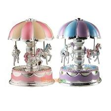 LED Light Merry-Go-Round Music Box Christmas Birthday Gift Toy Carousel