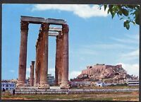 Posted 1970 View of the Temple of Olympian Zeus, Athens