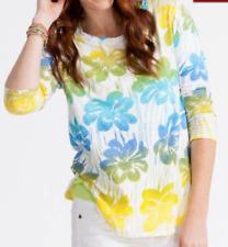 NWT Fresh Produce Spring Fling Catalina Multi Color Shirt Top Medium