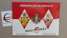 MONACO 8 monete 3,88 EURO 2017 fdc bu divisionale Монако モナコ公国  摩纳哥公国