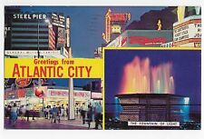 Atlantic City NJ Greetings General Motors Exhibit Sign Popcorn Vintage Postcard