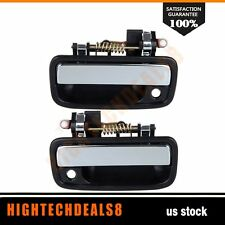 For 95-04 Toyota Tacoma Door Handles 2Pcs Front Right&Left Side Exterior Black