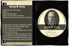 George W Carey Book Set, Lot On CD God-Man Biochemic Zodiac Salts Tree of Life