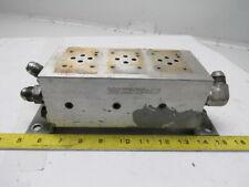Wdc Aluminum 3 bank Hydraulic Manifold Block