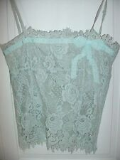 KAREN MILLEN GREEN FLORAL LACE PARTY CAMI summer STRAPPY TOP  10  8