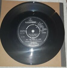 THE BEATLES -All You Need Is Love- No TV Reference/4 Prong Centre UK /Rare Vinyl