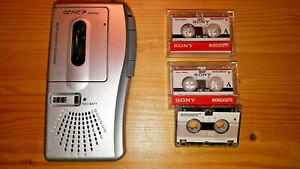 Diktiergerät - Micro Cassette Recorder - GENIE MCR-996 + 3 Microcassetten