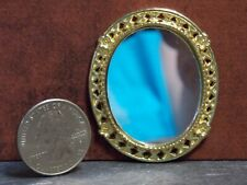 Dollhouse Miniature Mirror in Gold Frame 1:12 one inch scale Y16 Dollys Gallery