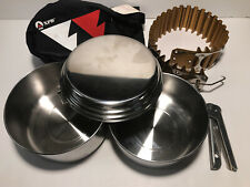 MSR XPD Stainless Steel Cook Set w/ Heat Exchanger USA Zebra Thailand NEW