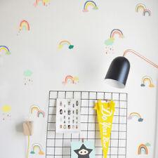 24pcs Cartoon Rainbow Cloud Wall Stickers PVC Baby Room Decoration Wall DecalsRW