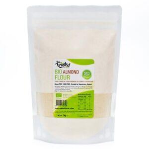 Almond Flour Organic BIO - Blanched Ground 1kg 500g, 100% Natural - FREE P&P