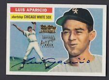 Luis Aparicio 2002 Team Topps Legends 1956 Rookie Reprint On Card Autograph
