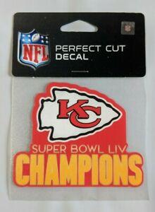 "Kansas City Chiefs 4"" x 4"" Super Bowl Champions Truck Car Window Die Cut Decal"