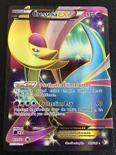 Carte Pokemon CRESSELIA 143/149 Holo EX Full Art Noir et Blanc Française NEUF