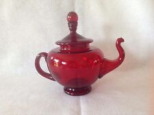 Artist Blown Red Tea Pot
