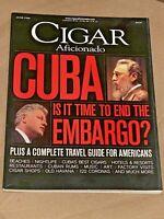 Cigar Aficionado Magazine Bill Clinton Fidel Castro June 1999 Cuba Embargo