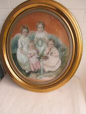 Biedermeier Porträt - Kinderporträt - Aquarell - 1844 - sign. Carl Hennig