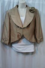 Le Bos Jacket Sz 8 Taupe Brown Business Evening Cocktail Dinner Jacket