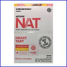 PRUVIT Keto os NAT Pure Therapeutic Ketones Heart Tart Caffeine Free exp 8/21