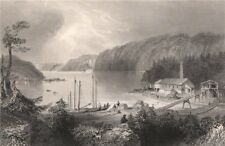NEW BRUNSWICK. Indiantown, North End, St John. Canada. BARTLETT 1842 old print