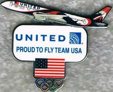 2016 Rio Cut-Out United Airlines Colored Plane USA Olympic Team NOC Sponsor Pin
