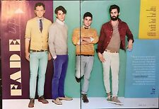 Vampire Weekend 4pg GQ magazine feature, clippings