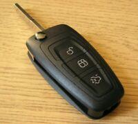 Coque Clé Plip Telecommande 3 Boutons pour Ford Focus 3 Mondeo 4 C-Max 2 S-Max