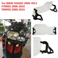 Clear Motorcycle Headlight Protector Guard Cover For BMW F650GS F700GS F800GS